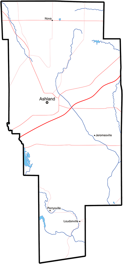 Perrysville Ohio Map.Ashland County Ohio Hart Advertising