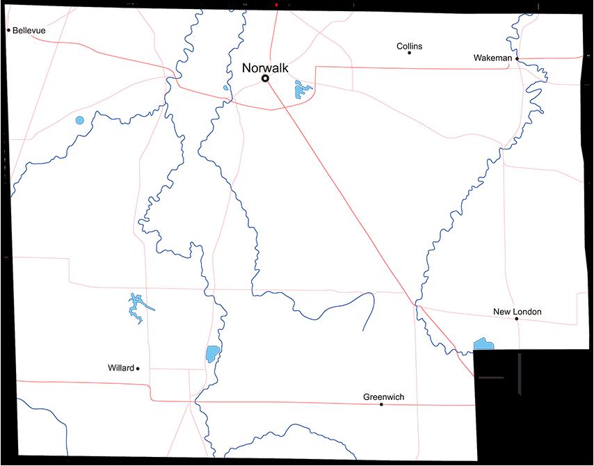 New London Ohio Map.Huron County Ohio Hart Advertising