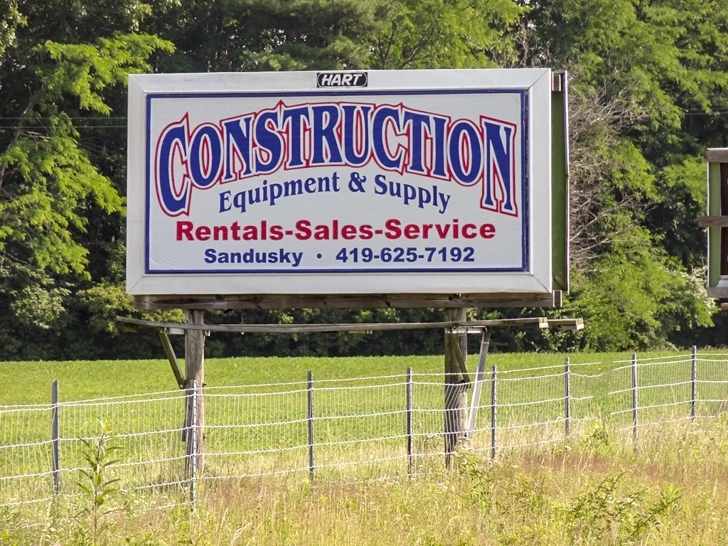 image of a general branding ad for Construction Equipment & Supply