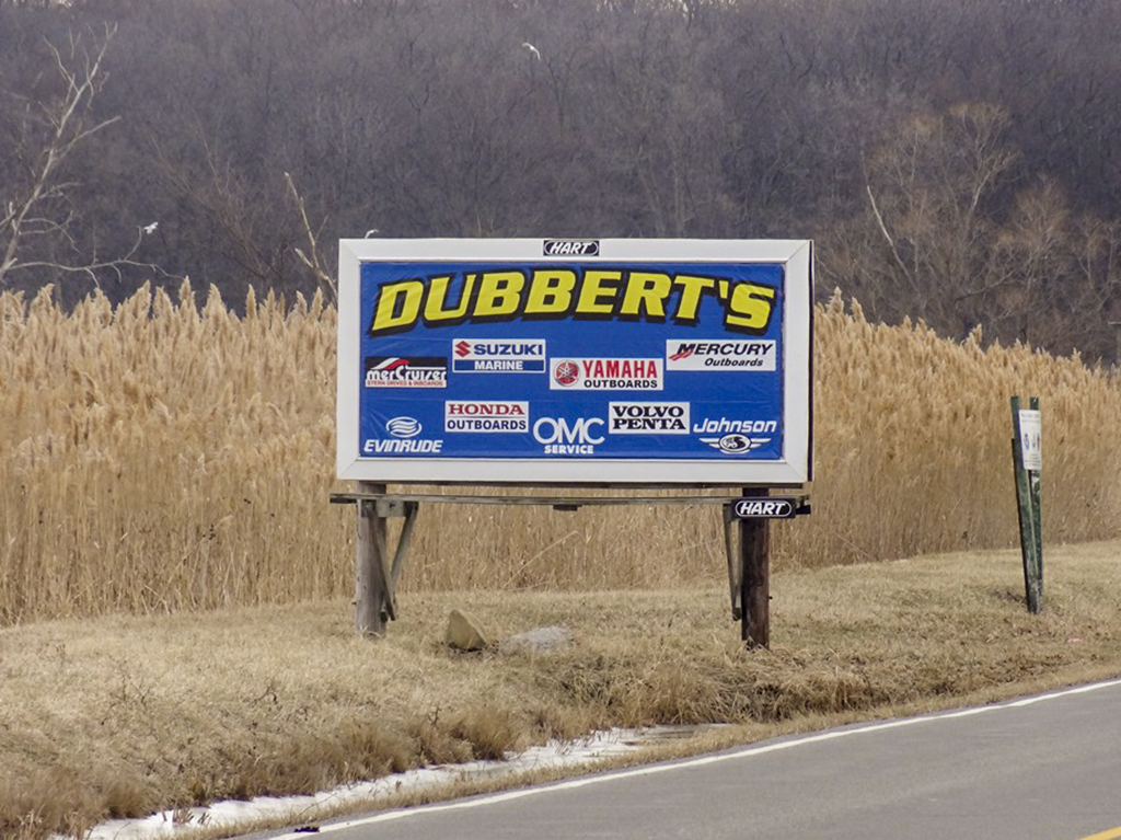 image of a general branding ad for Dubberts