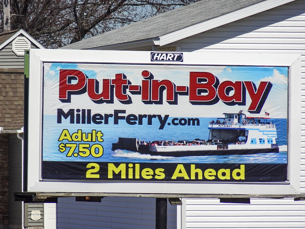 image of Miller Ferry advertising Put-In-Bay