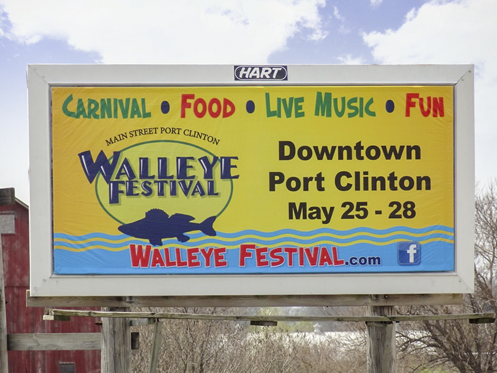 image of the Walleye Festival advertising on a junior poster