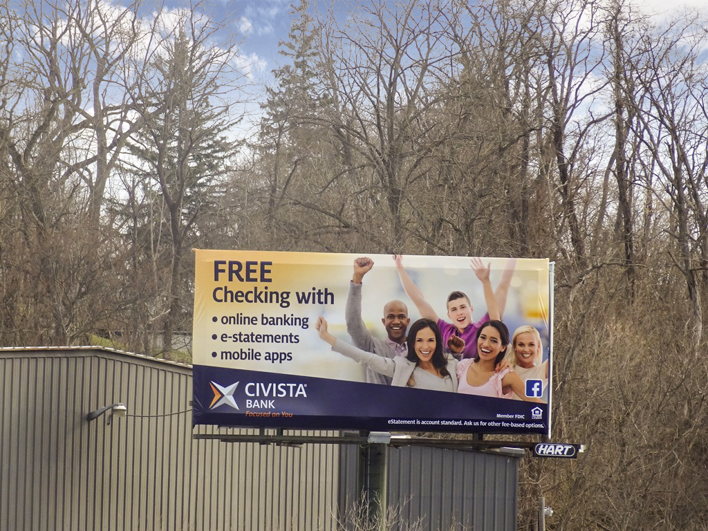 image of Civista Bank advertisement about free checking