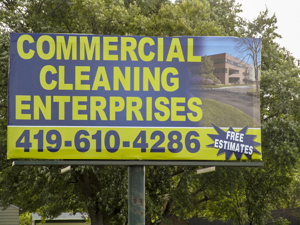 image of a poster ad for commercial cleaning enterprises