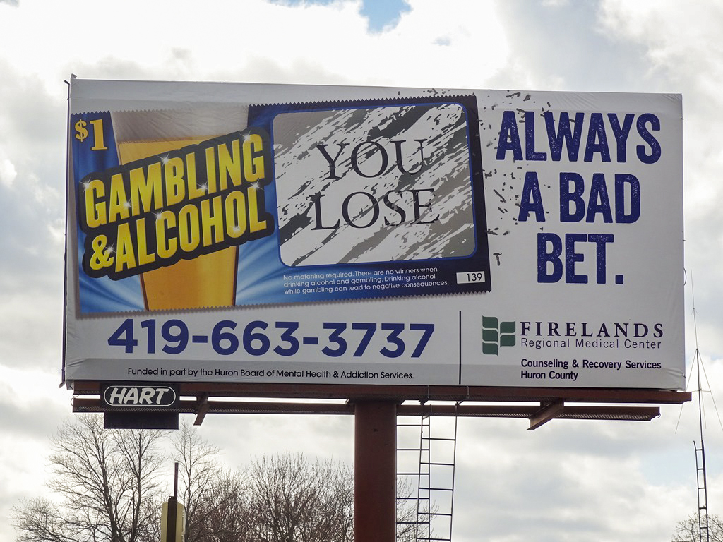 image of Firelands Medical Center advertising their Couseling & Recovery program