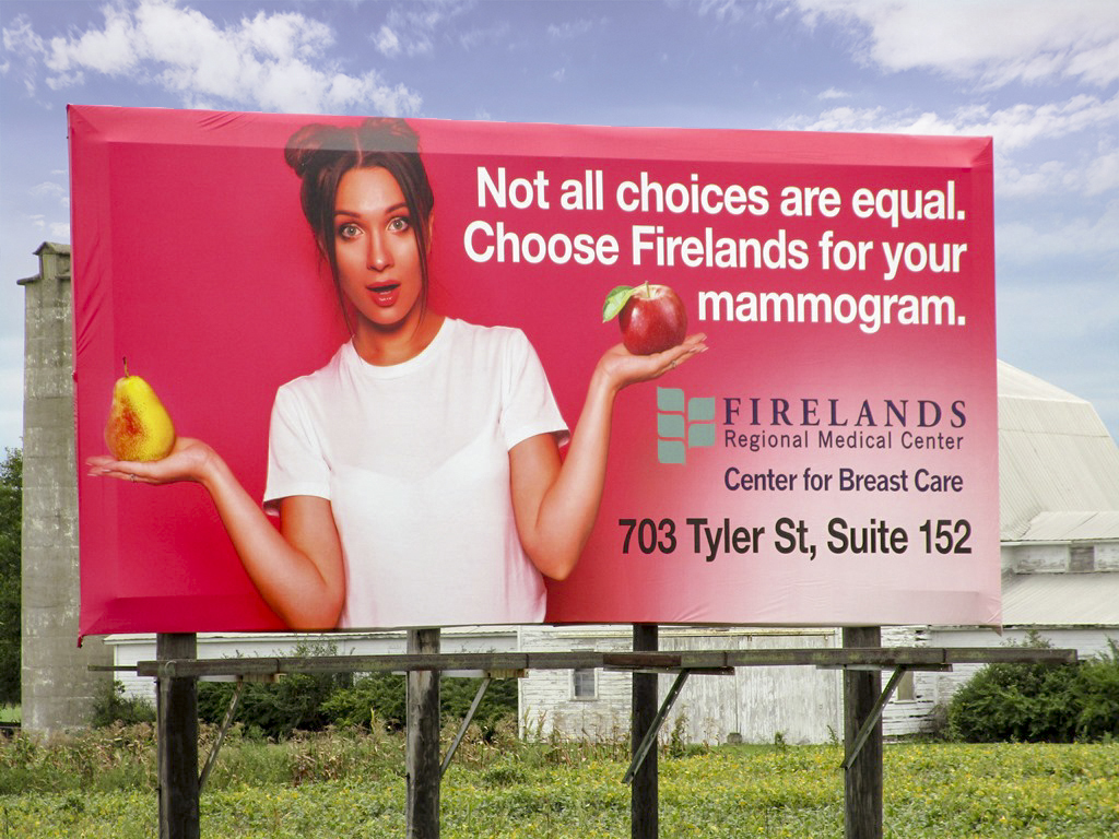 image of Firelands Medical advertising about mammograms