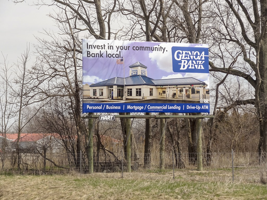 image of Genoa Bank promoting the community to bank locally