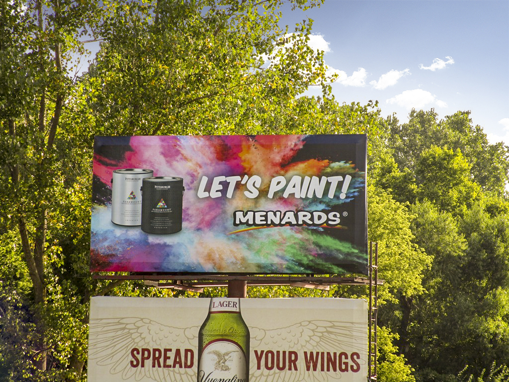 image of a Menards poster ad promoting their paint