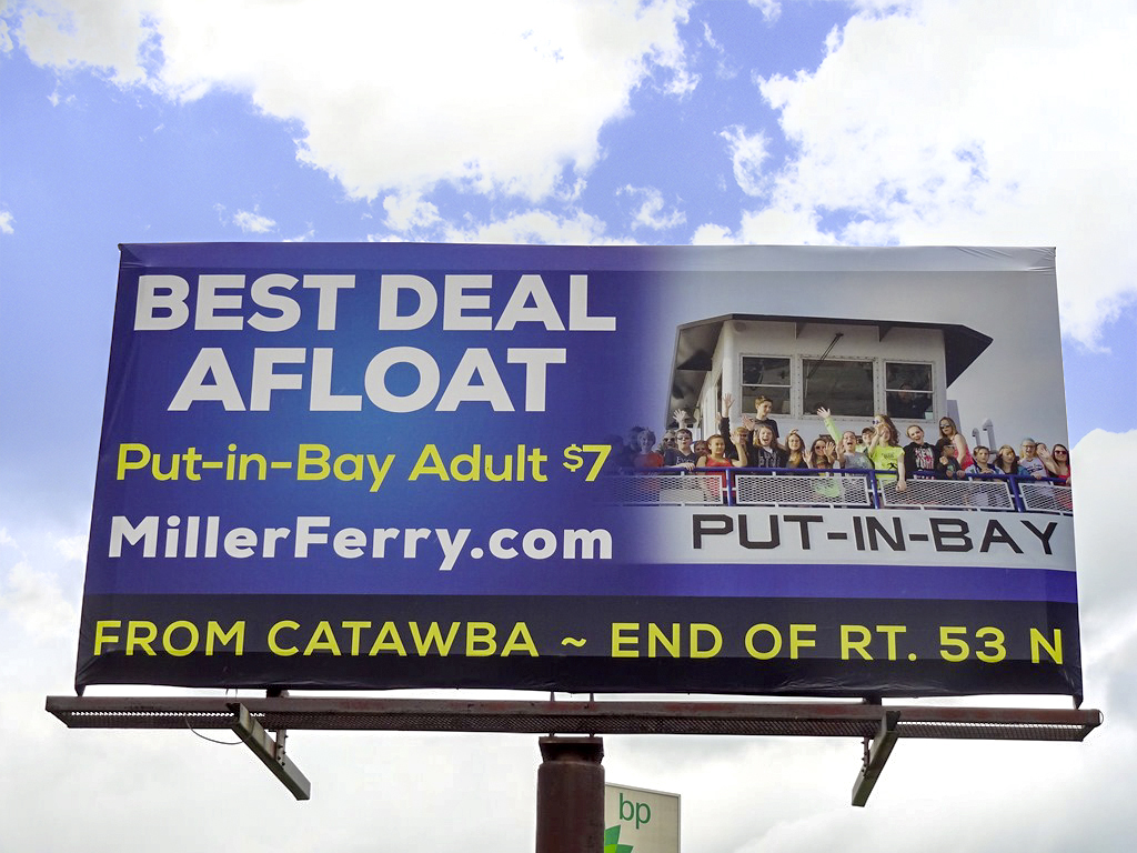 image of Miller Ferry advertising on a poster