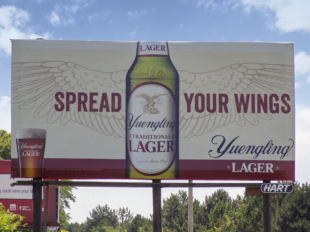 image of the Spread Your Wings campaign for Yuengling