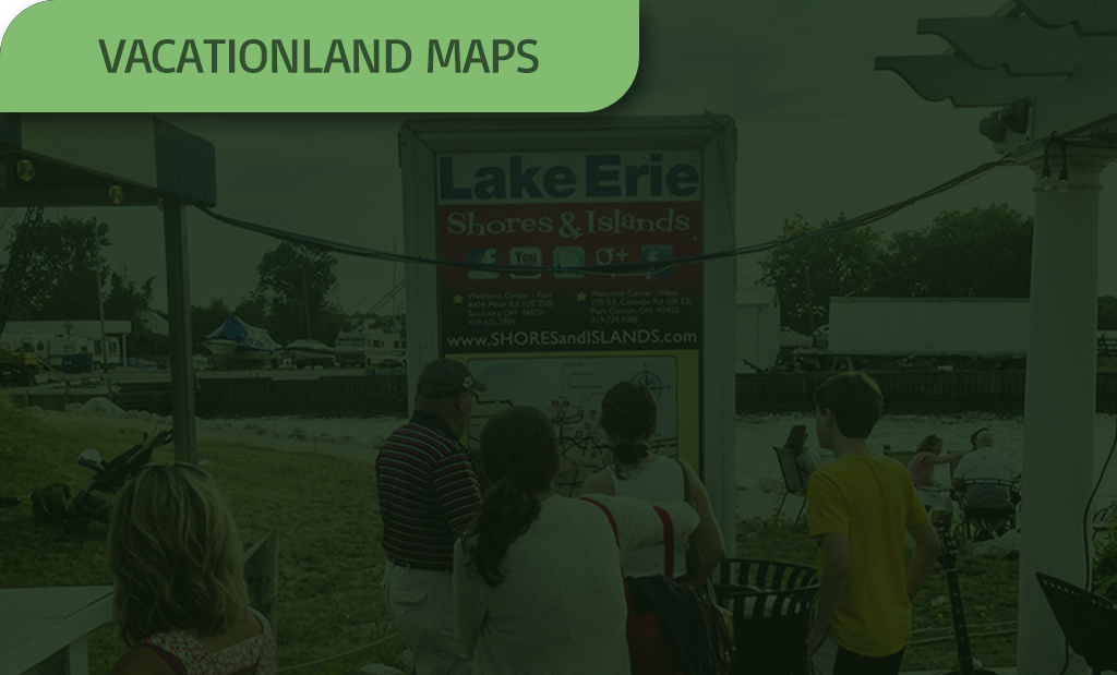 image of a vacationland map with a green overlay