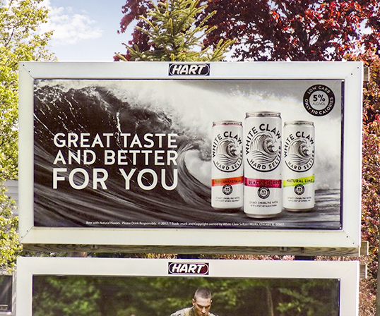 image of White Claw's junior poster campaign